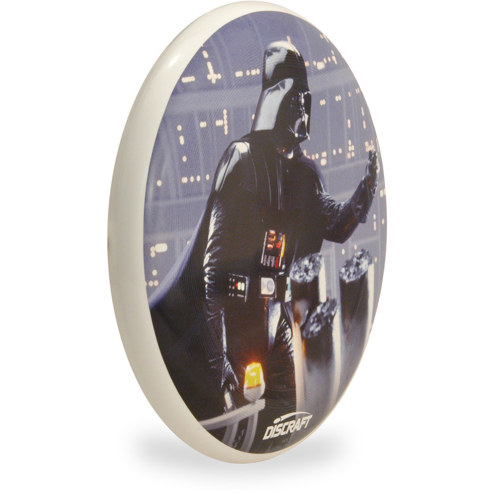 Discraft ULTRA-STAR - Star Wars Series SuperColor Ultimate Frisbee Disc -  Father Darth - Angled Top View