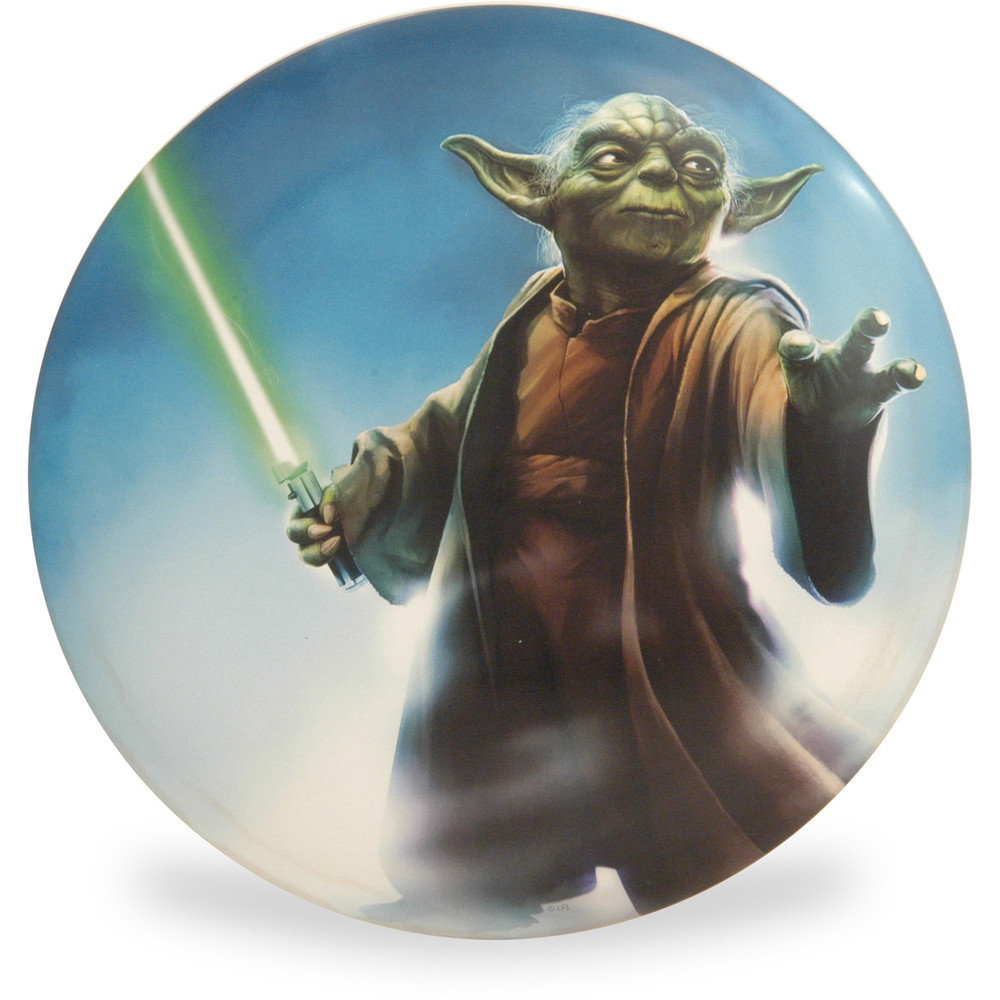 Discraft SUPERCOLOR STAR WARS BUZZZ *Choose Options* Mid-Range Golf Disc - Yoda with lightsaber, front view