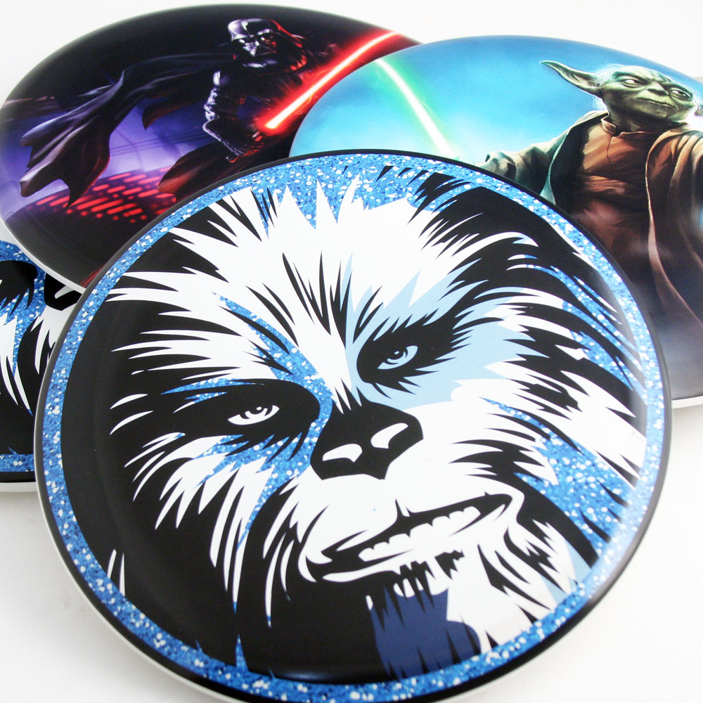 Discraft SUPERCOLOR STAR WARS BUZZZ *Choose Options* Mid-Range Golf Disc - variety of designs spread on table