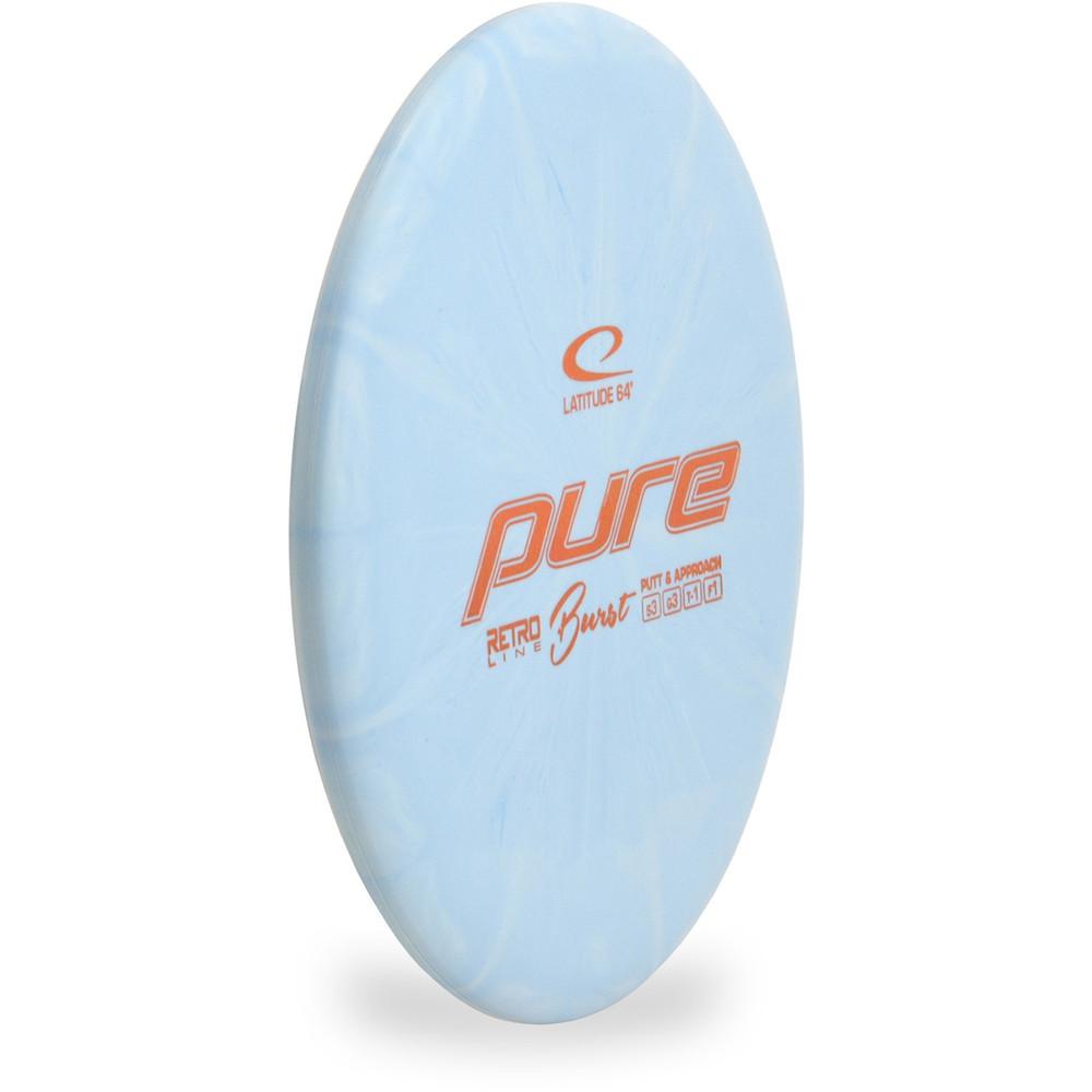 Latitude 64 RETRO BURST PURE Disc Golf Putter & Approach blue front-side view