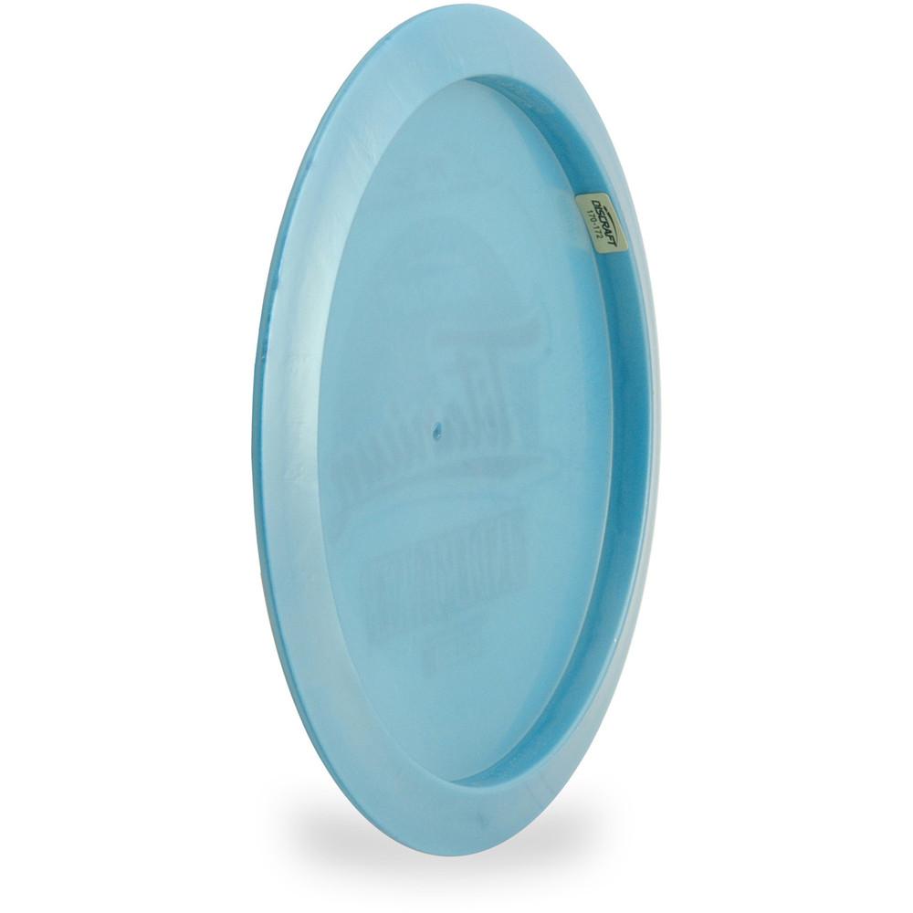 Discraft TI UNDERTAKER - 4x PAUL MCBETH Signature. Angled back view of blue disc.