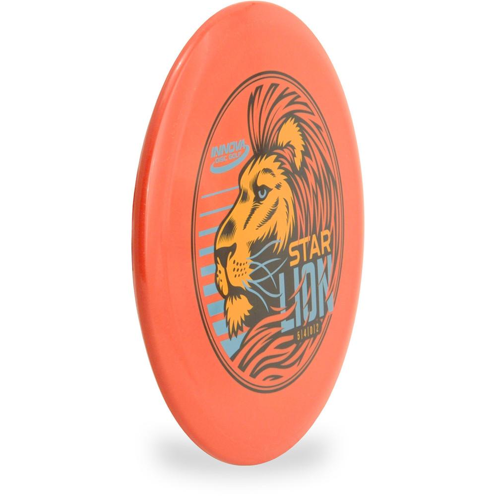 Innova STAR LION - INNFUSE GRAPHICS Mid-Range Golf Disc Orange Angled Front View