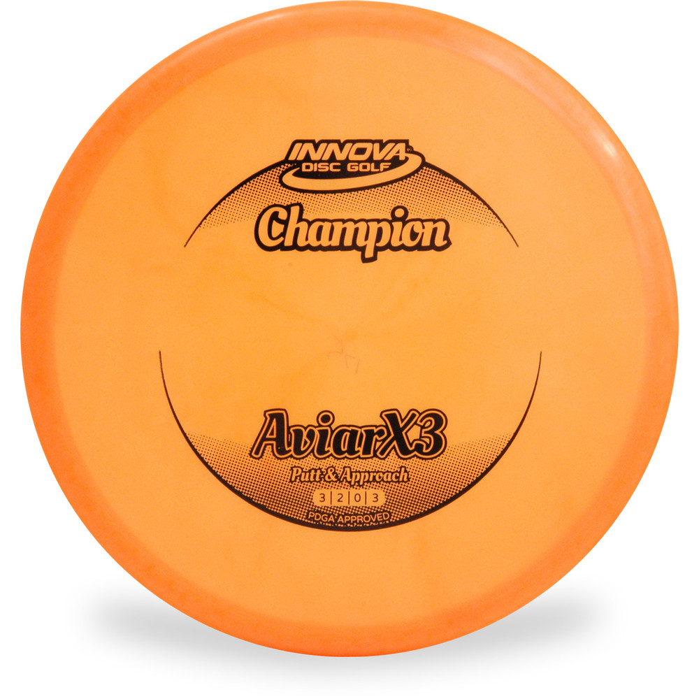 Innova CHAMPION AVIARX3 Disc Golf Putter and Approach Orange Front View