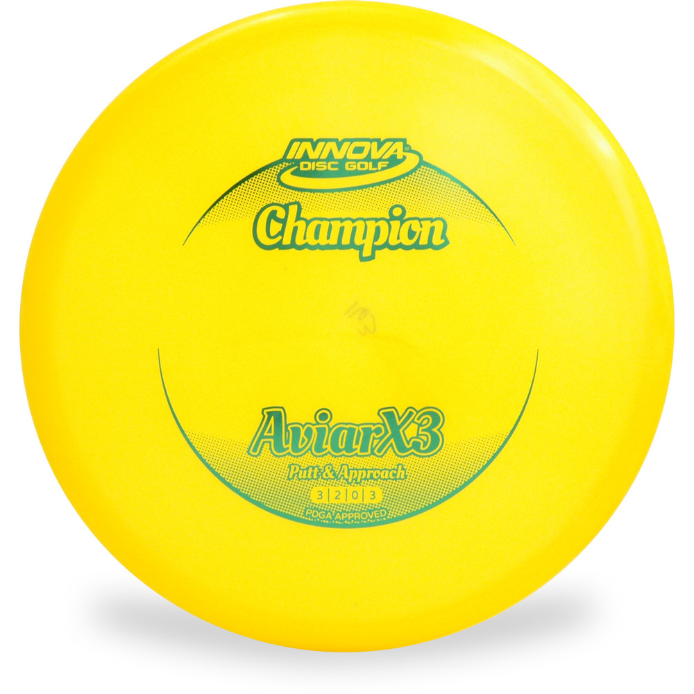Innova CHAMPION AVIARX3 Disc Golf Putter and Approach Yellow Front View
