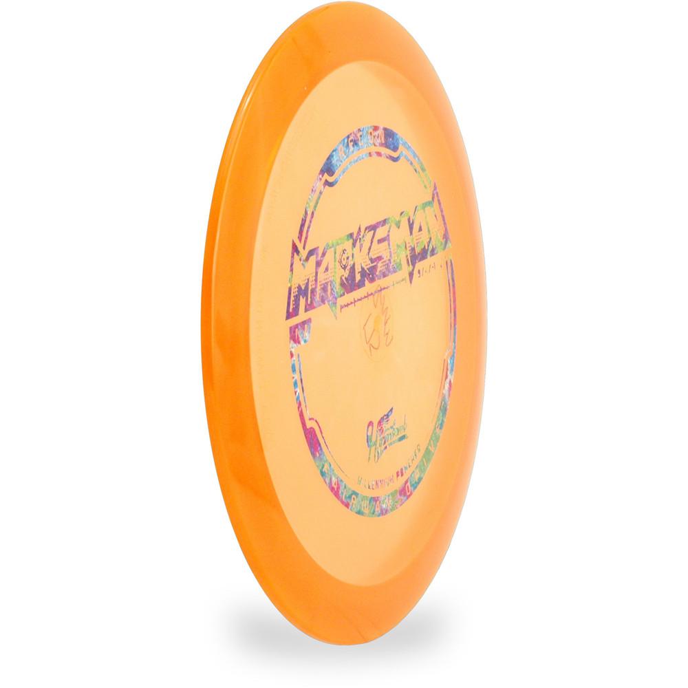 Hyzer Bomb RECON MARKSMAN Driver Golf Disc Orange Angled Front View
