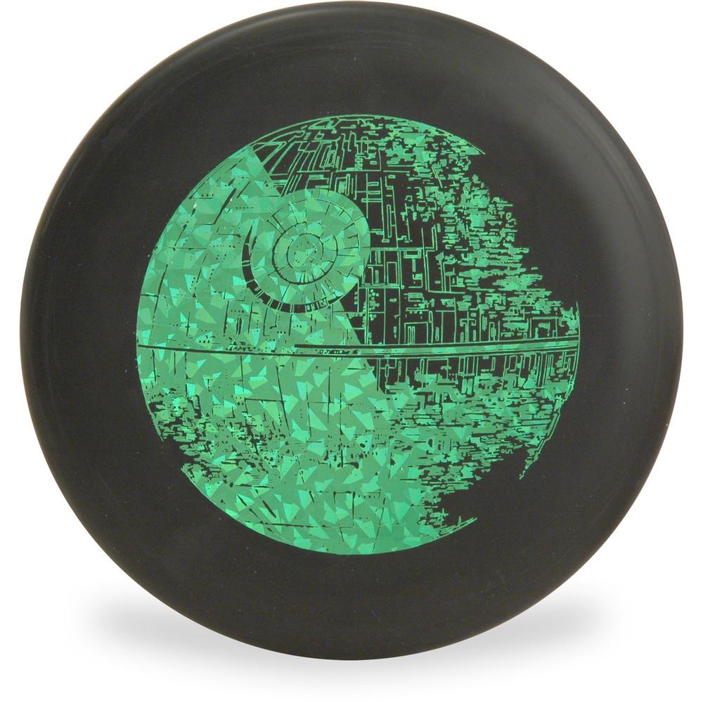 Discraft D CHALLENGER - STAR WARS Design Black Death Star Disc Golf Putter Front View