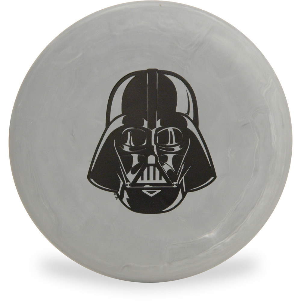 Discraft D CHALLENGER - STAR WARS Design Gray Darth Vader Headshot Disc Golf Putter Top View
