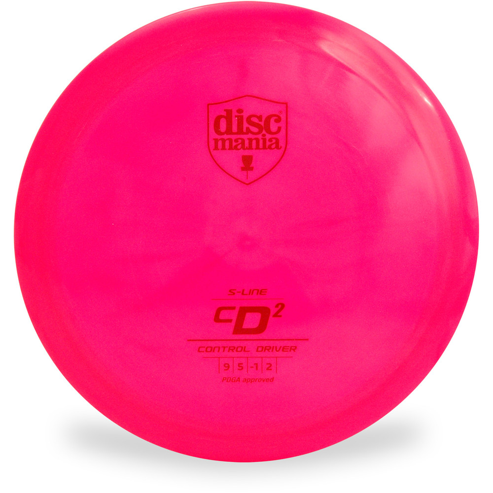 Discmania S-LINE CD2 Driver Golf Disc Pink Front View