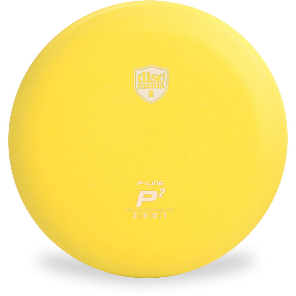 Discmania P-LINE P2 Putter Golf Disc Yellow Front View