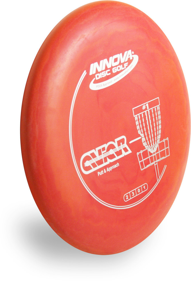 Innova DX AVIAR - SUPER LIGHT Putter & Approach - angled front view red