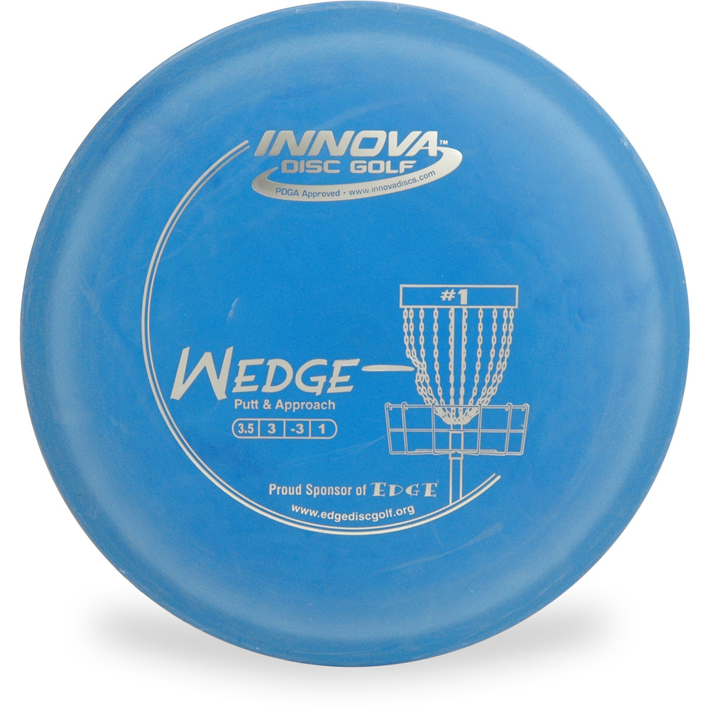 Innova DX WEDGE - SUPER LIGHT Putter & Approach Golf Disc Blue Top View