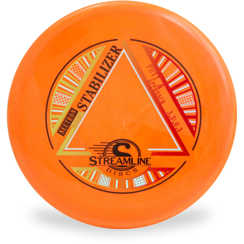 Streamline NEUTRON STABILIZER Disc Golf Putter and Approach Orange Top View