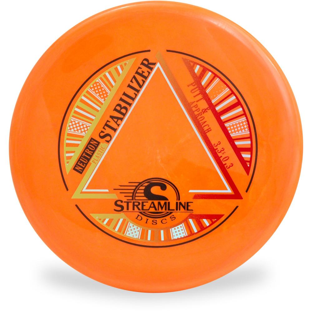 Streamline NEUTRON STABILIZER Disc Golf Putter and Approach Orange Top View