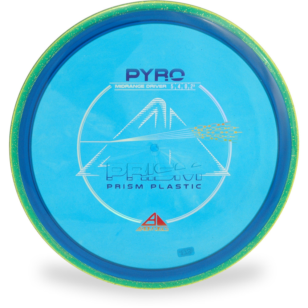 Axiom PRISM PYRO Mid-Range Golf Disc Blue Top View