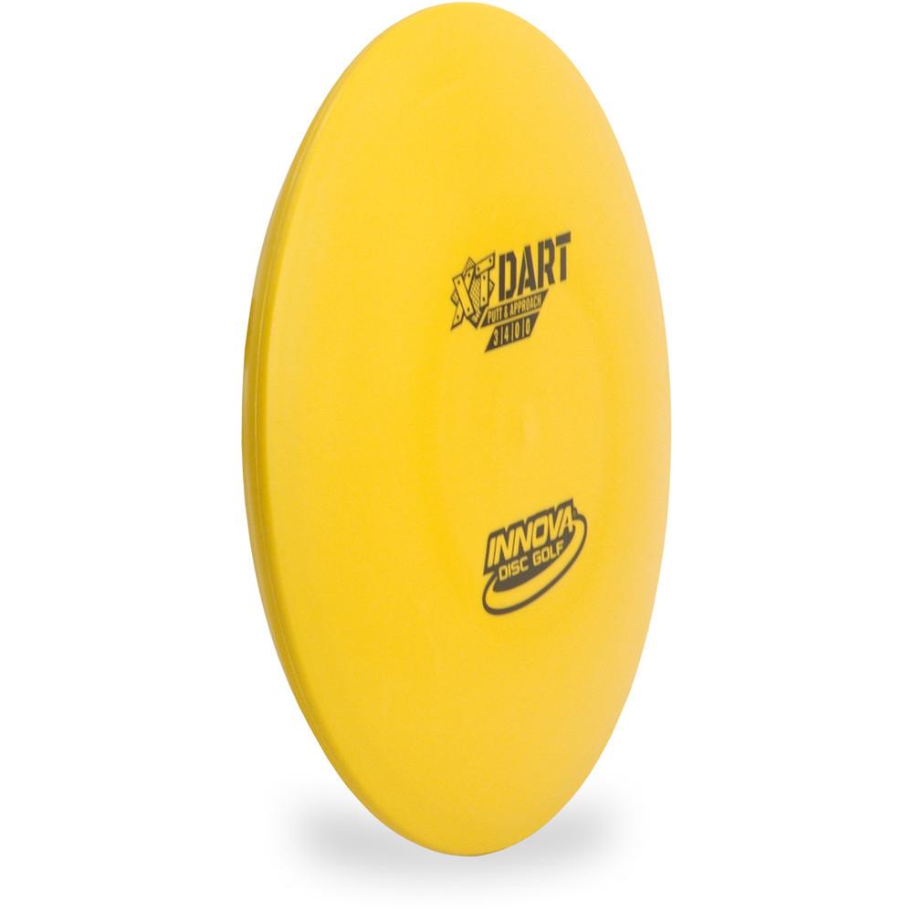 Innova XT DART Putter & Approach Golf Disc Yellow Angled Top View