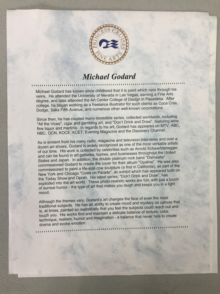 """MICHAEL GODARD PRINT FOR SALE """"PREPARE THE PERFECT POUR""""  - Signed & Numbered"""
