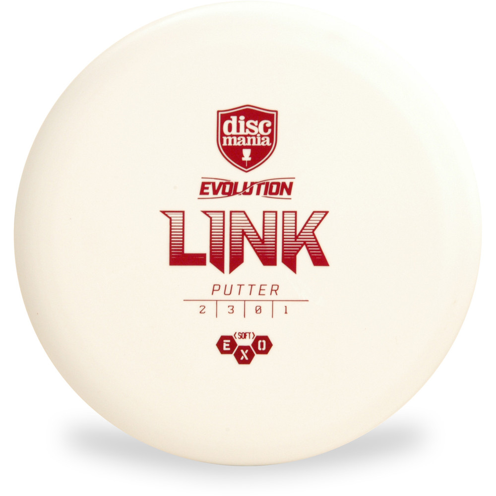 Discmania Evolution EXO SOFT LINK Putter & Approach Golf Disc White
