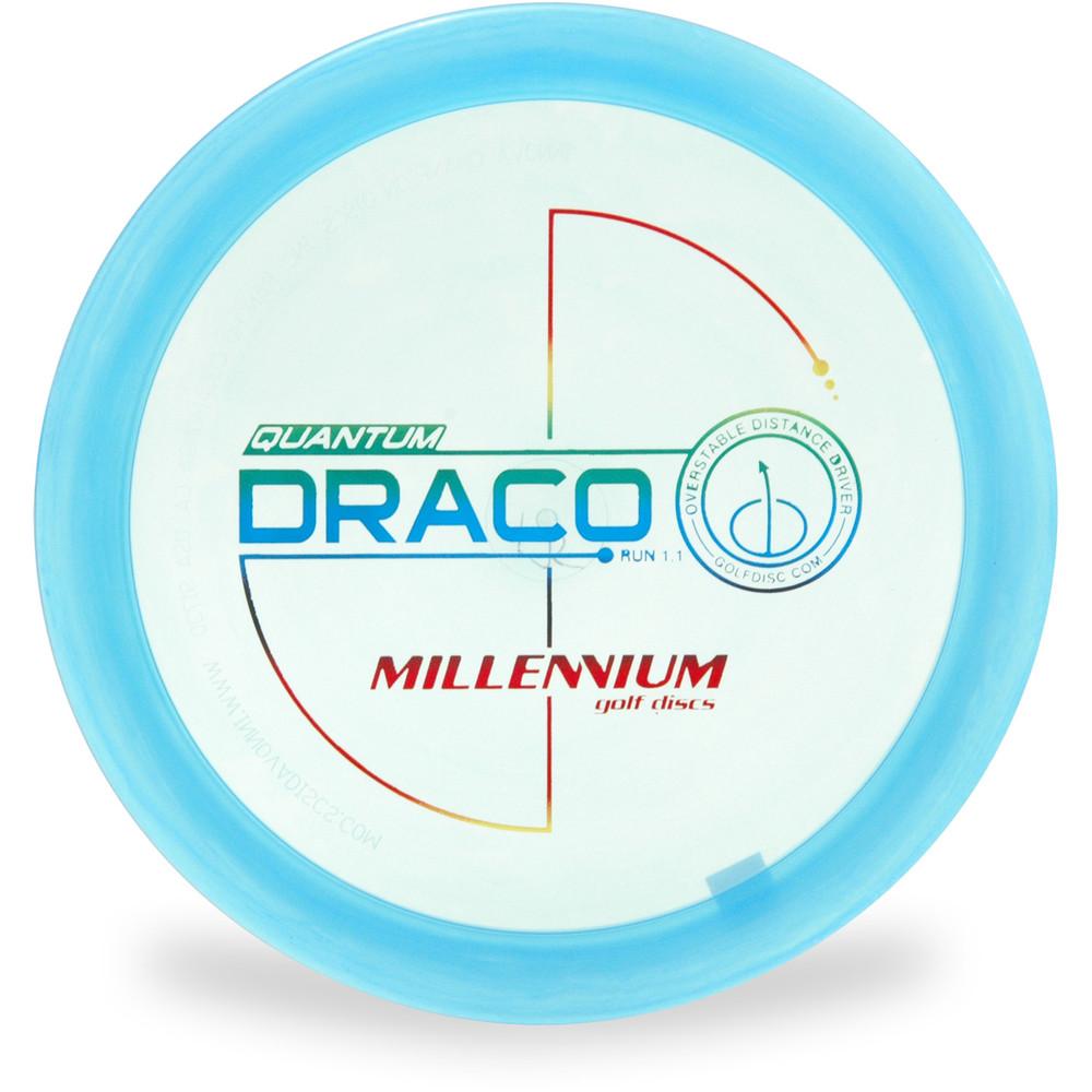 Millennium QUANTUM DRACO Driver Golf Disc Blue Top View