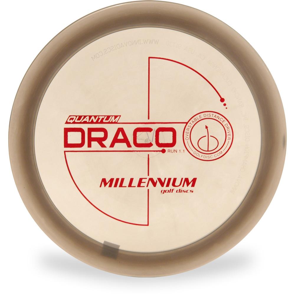 Millennium QUANTUM DRACO Driver Golf Disc Gray Top View