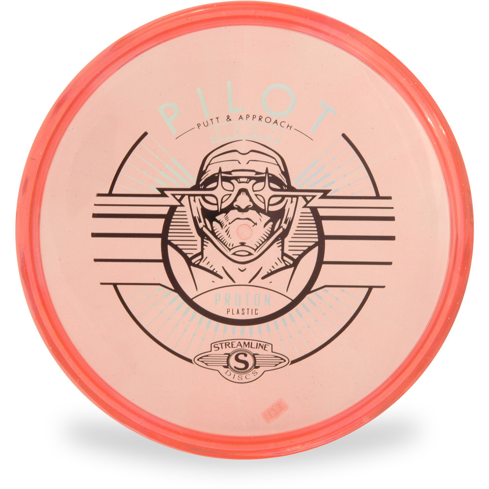 Streamline PROTON PILOT Putter and Approach Golf Disc Top View Red