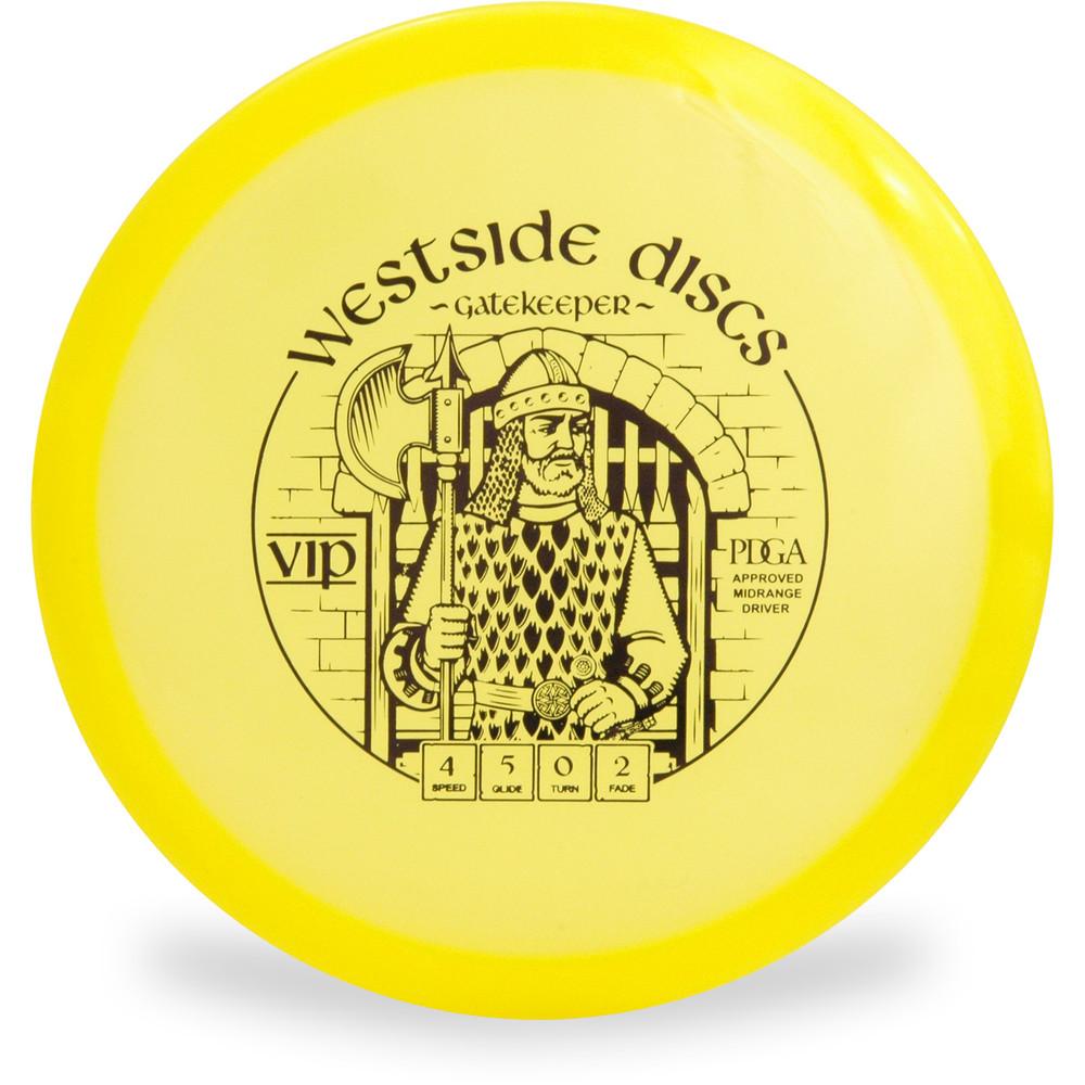 Westside Discs VIP GATEKEEPER Mid-Range Golf Disc Top View Purple