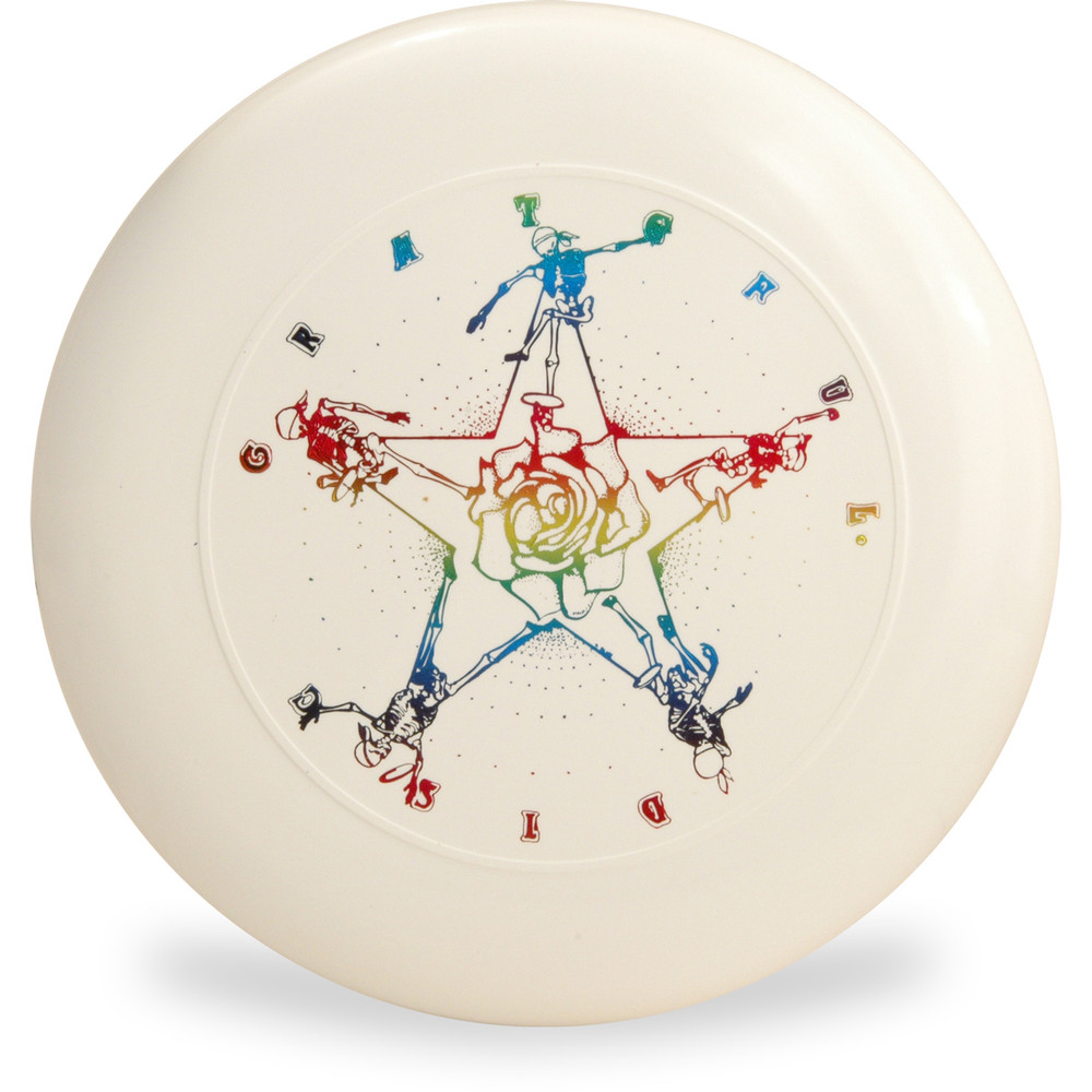 Discraft SKY-STYLER FREESTYLE DISC - GRATEFUL DISC *Choose Color* Frisbee Flyer Top View White