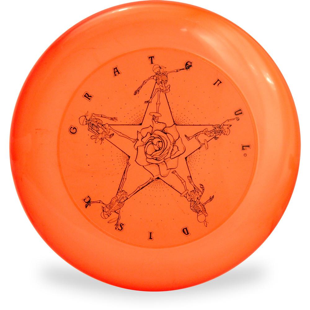 Discraft SKY-STYLER FREESTYLE DISC - GRATEFUL DISC *Choose Color* Frisbee Flyer Top View Orange