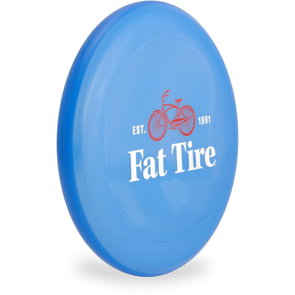 Wham-O UMAX FRISBEE - FAT TIRE LOGO Flying Disc Angled Top View