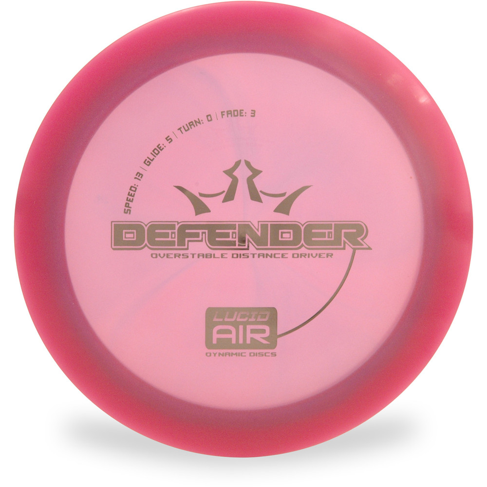 Dynamic LUCID AIR DEFENDER Driver Top View Red