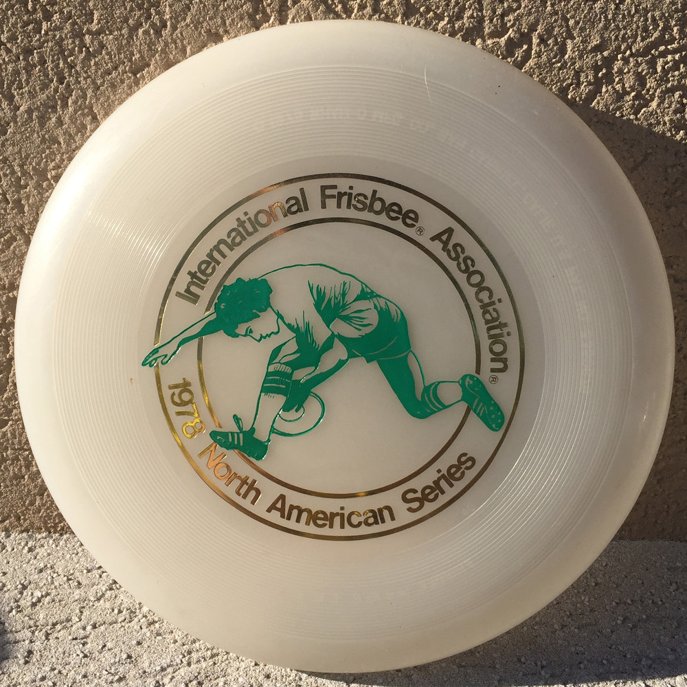 WHAM-O FRISBEE IFA NAS 1978 119G  - CLEAR W/GREEN- VERY GOOD CONDITION