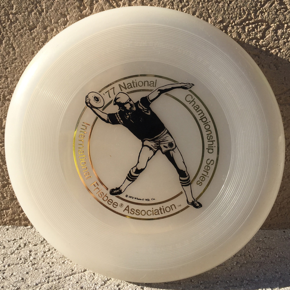 WHAM-O FRISBEE IFA NAS 1977 119G  - CLEAR W/BLACK- VERY GOOD CONDITION