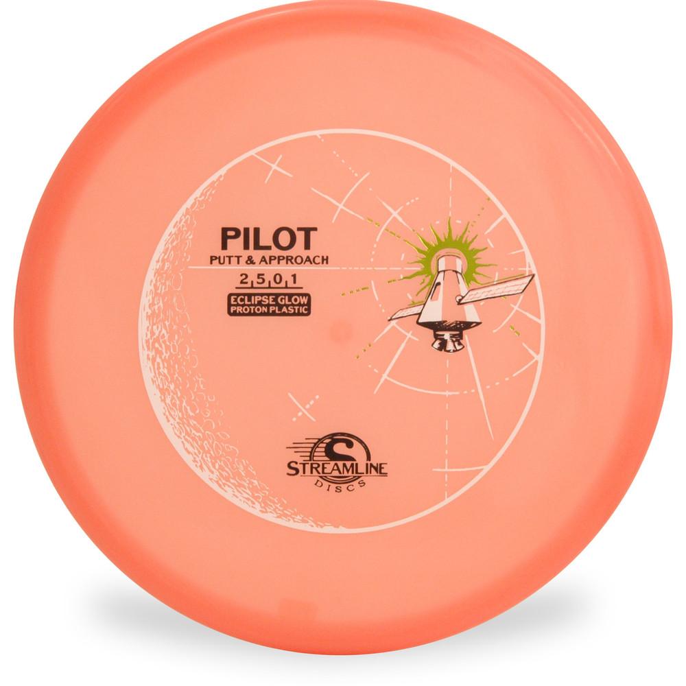 Streamline ECLIPSE PILOT GLOW Putter & Approach Orange Top View
