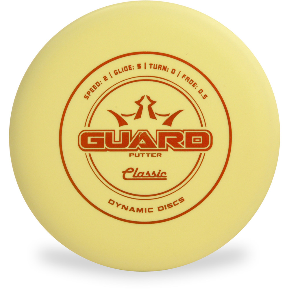 Dynamic Discs CLASSIC GUARD Putter & Approach Yellow Top View