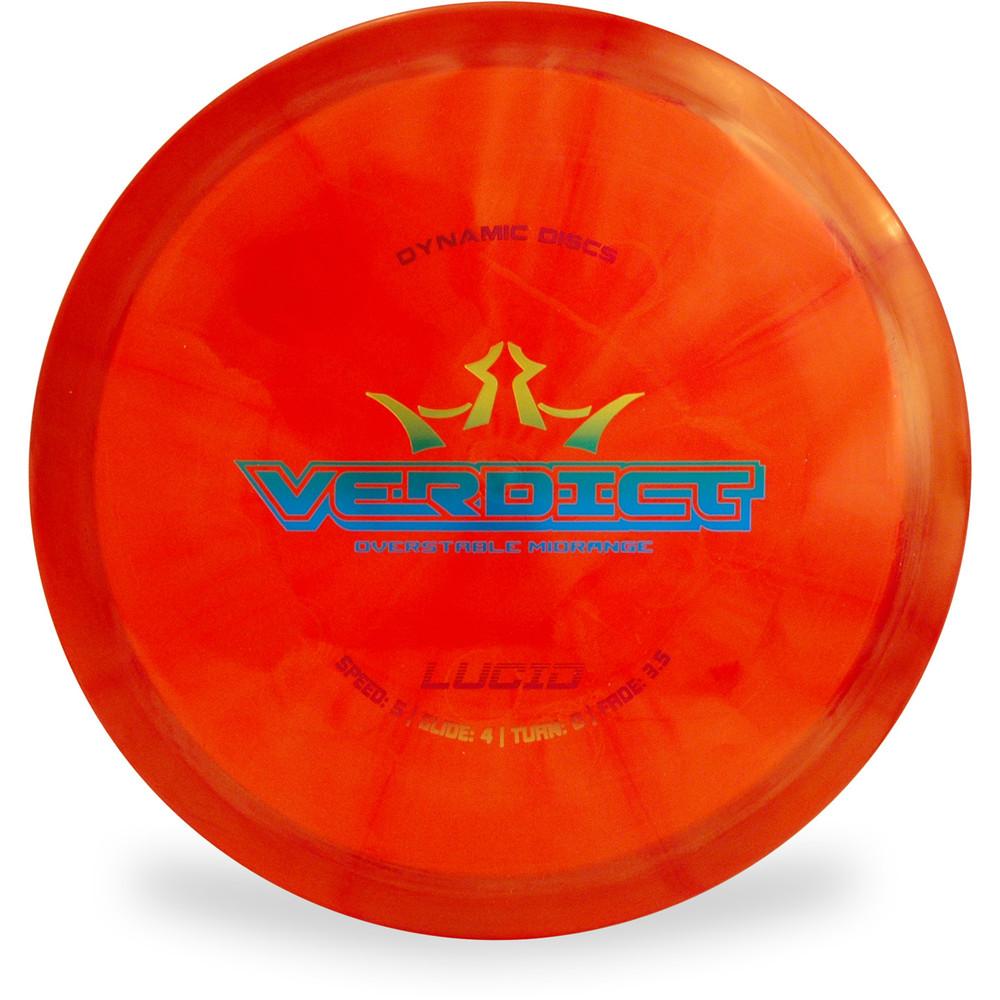 Dynamic Discs LUCID VERDICT Mid-Range Top View Red