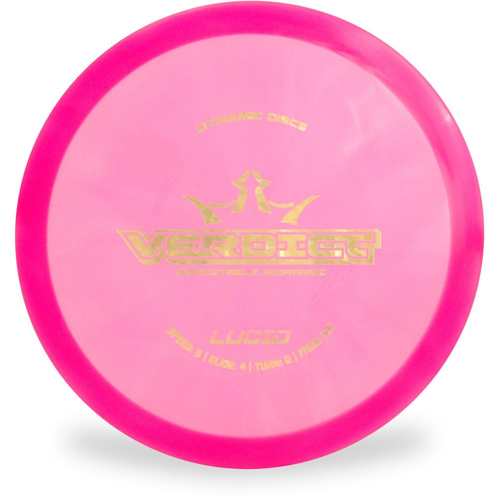 Dynamic Discs LUCID VERDICT Mid-Range Top View Pink