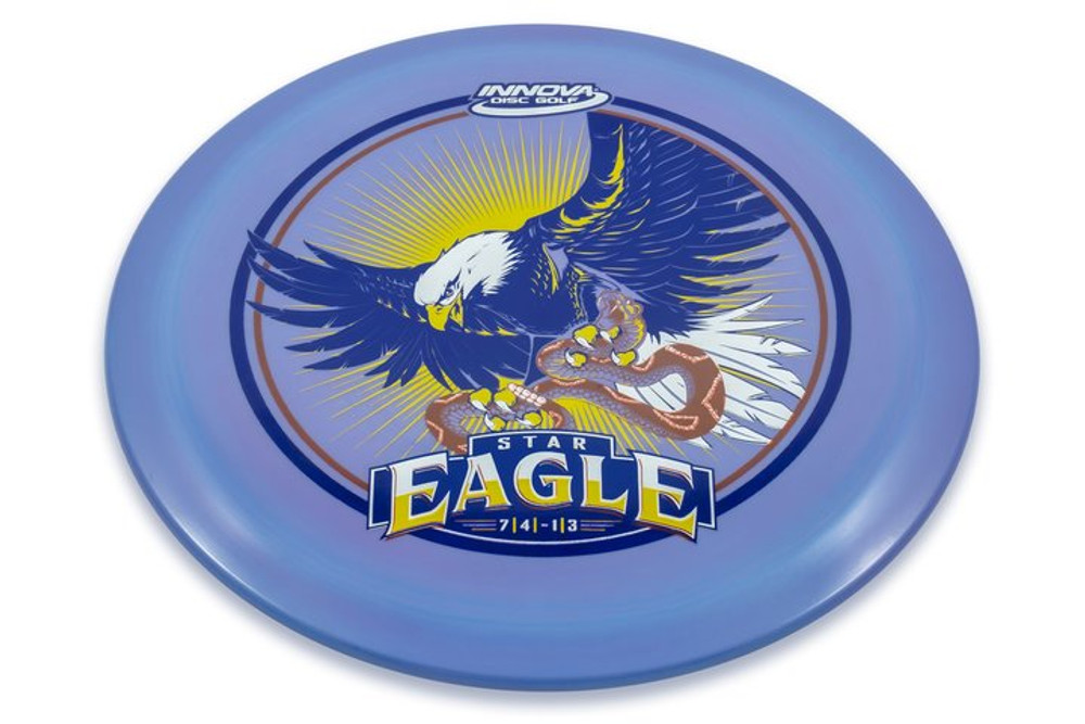 Innova STAR EAGLE - INNFUSE Design - angled top view of purple disc