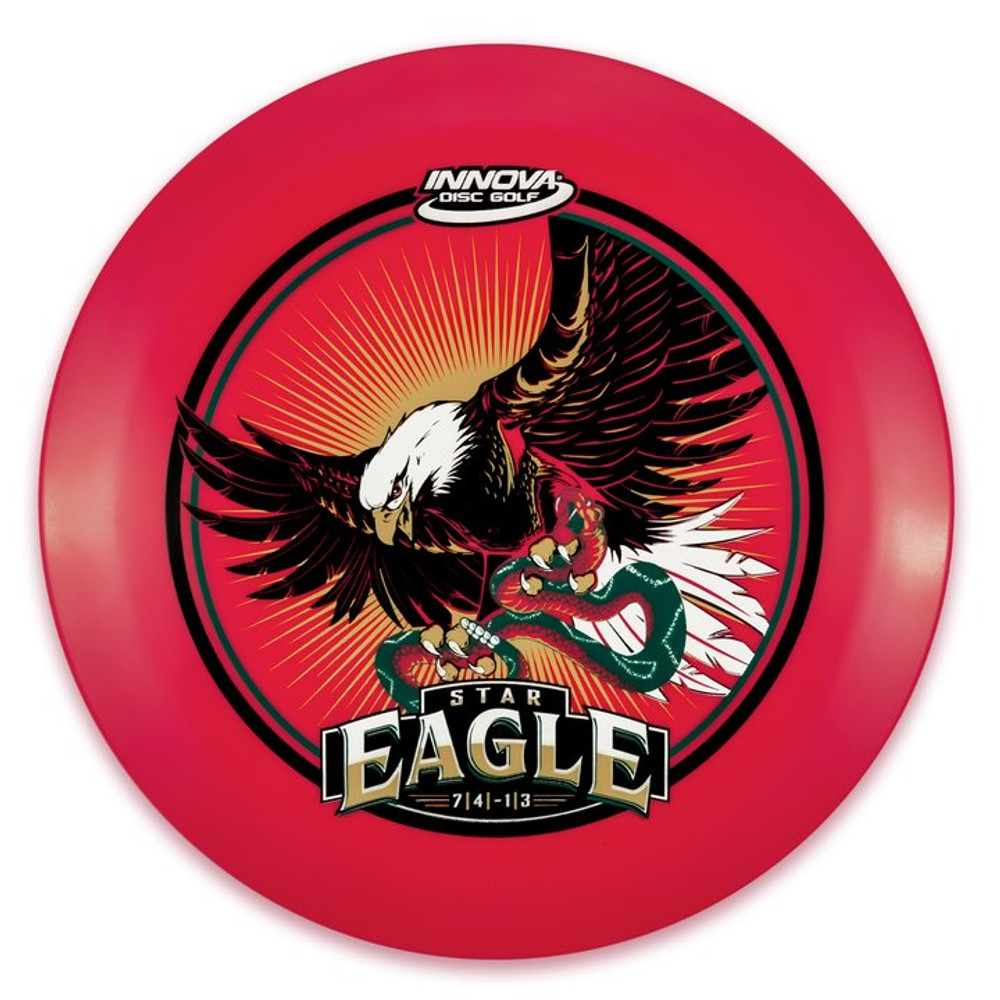 Innova STAR EAGLE - INNFUSE Design - top view of red disc