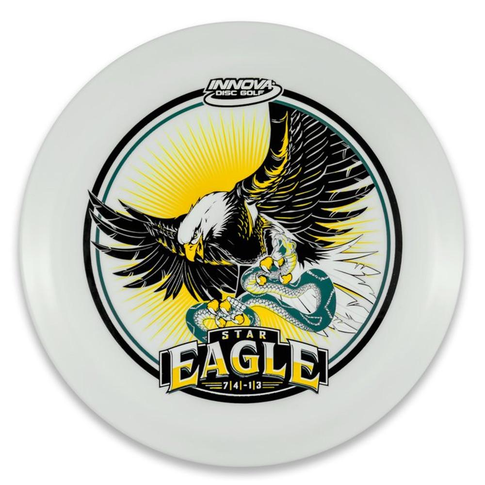 Innova STAR EAGLE - INNFUSE Design - top view of white disc