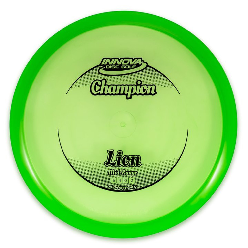 Innova CHAMPION LION Mid-Range - top view of green disc