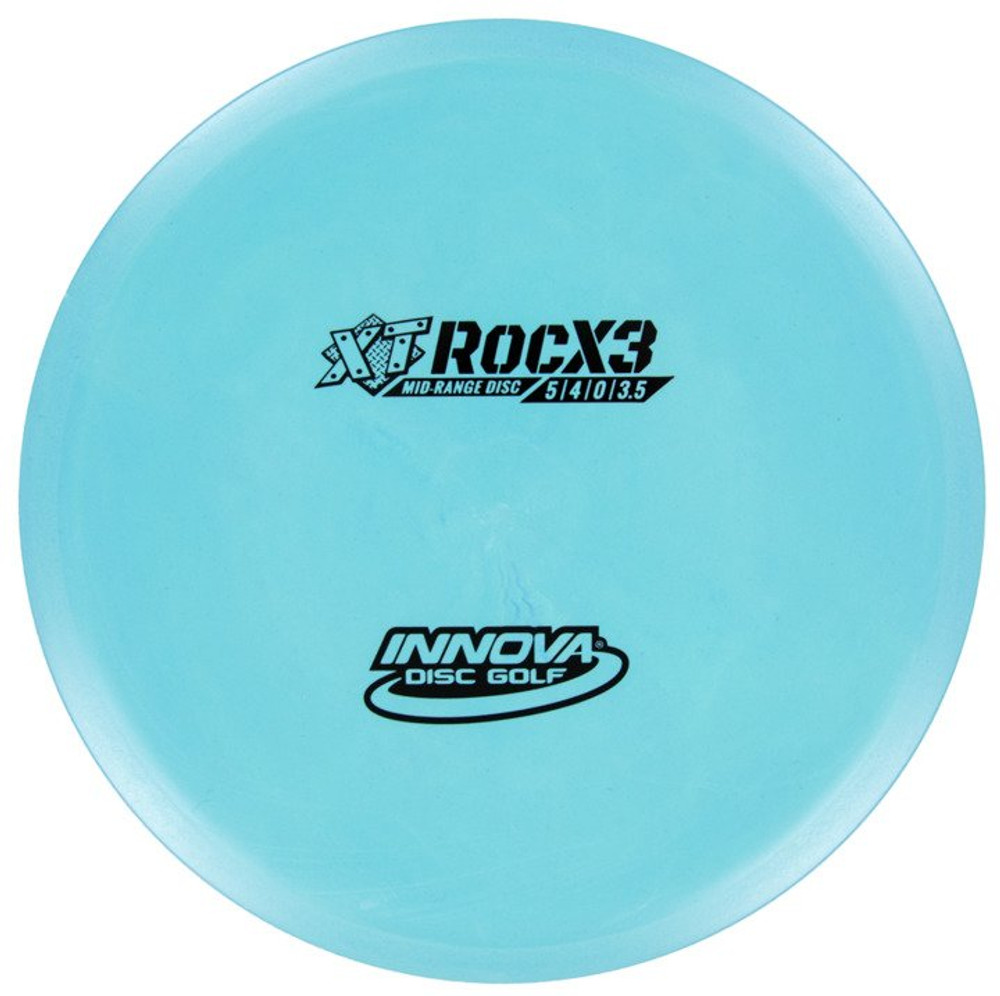Innova XT ROCX3 Mid-Range - top view of blue disc