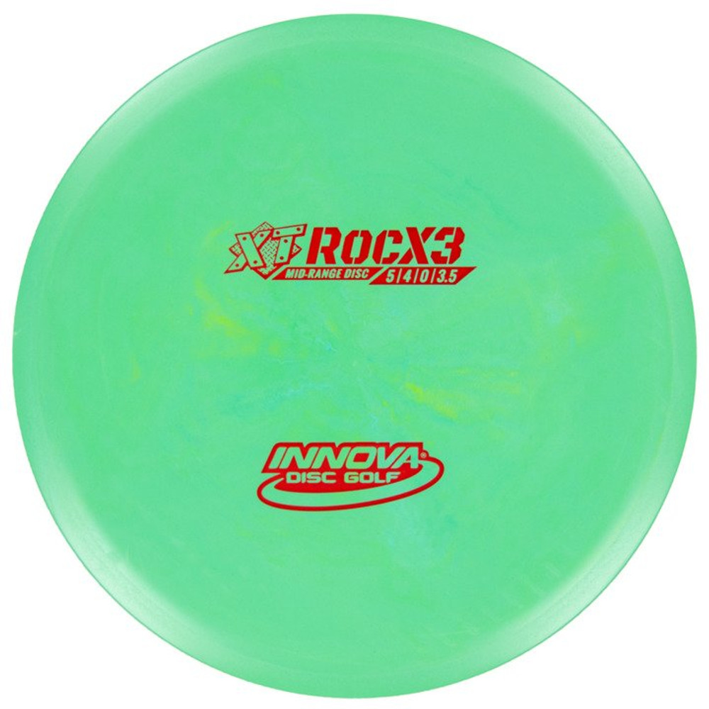 Innova XT ROCX3 Mid-Range - top view of green disc