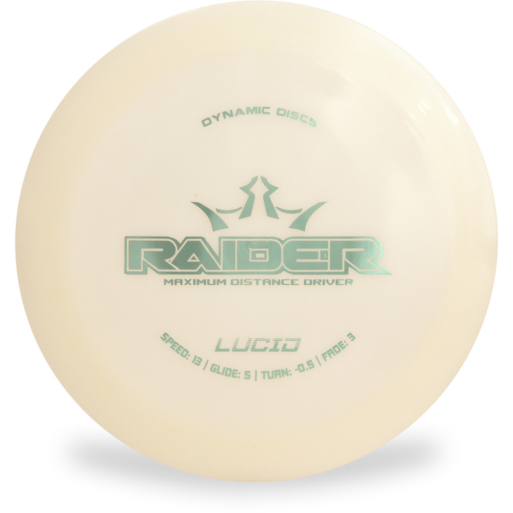 Dynamic Discs Lucid Raider Distance Driver White Top View