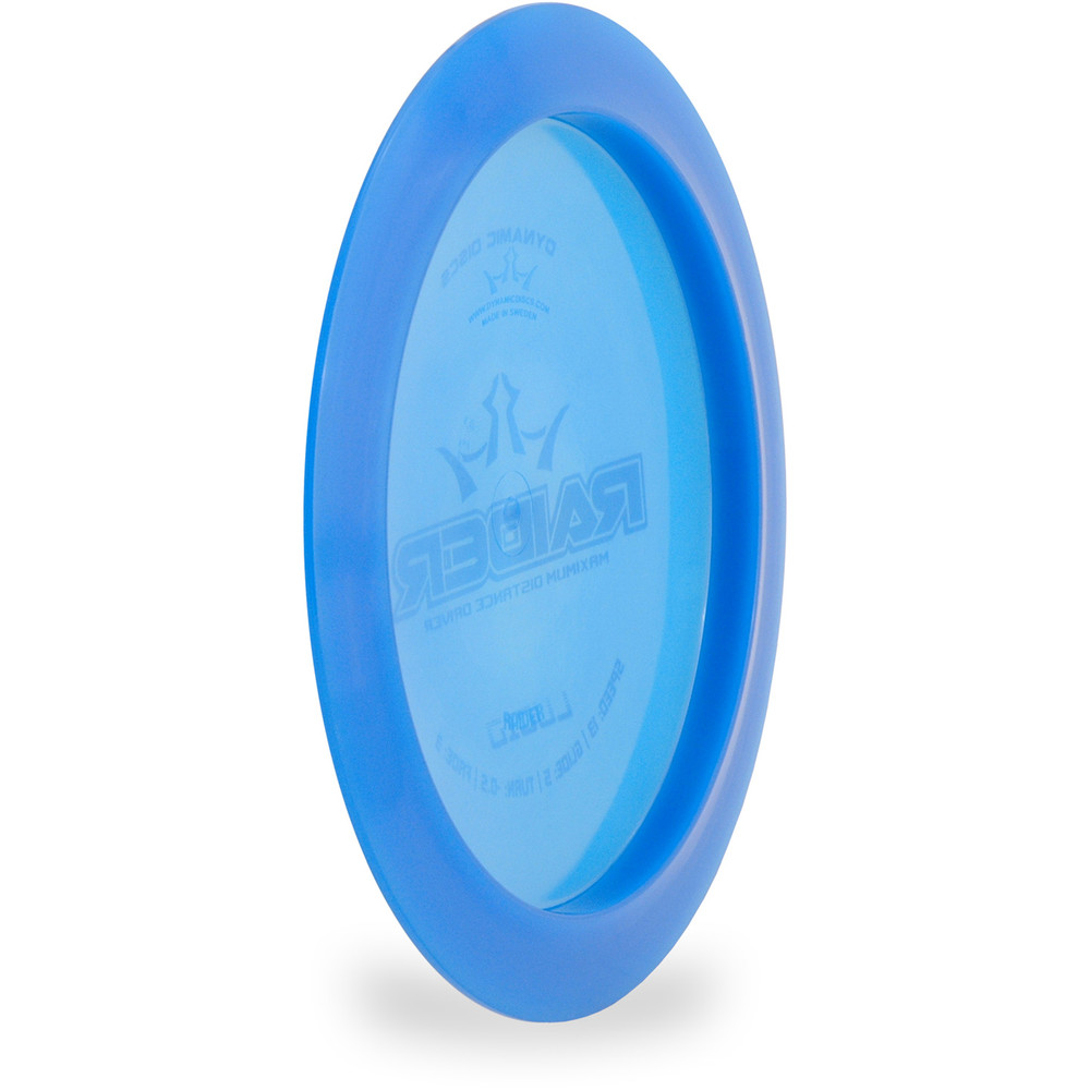 Dynamic Discs Lucid Raider Distance Driver Blue Angled Bottom View
