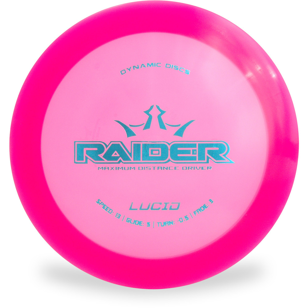 Dynamic Discs Lucid Raider Distance Driver Pink Top View