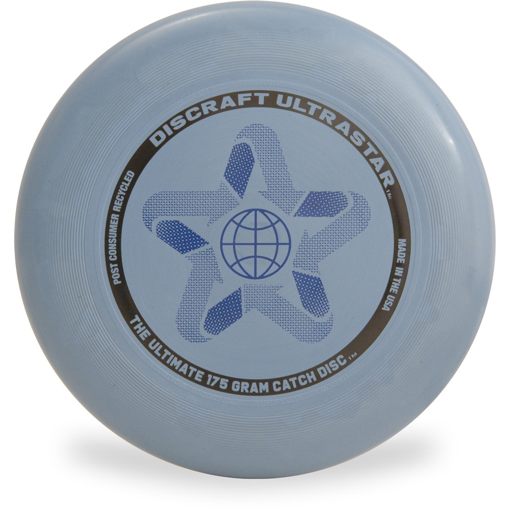 Discraft ULTRASTAR - 175g Post-Consumer Recycled Blue Top View