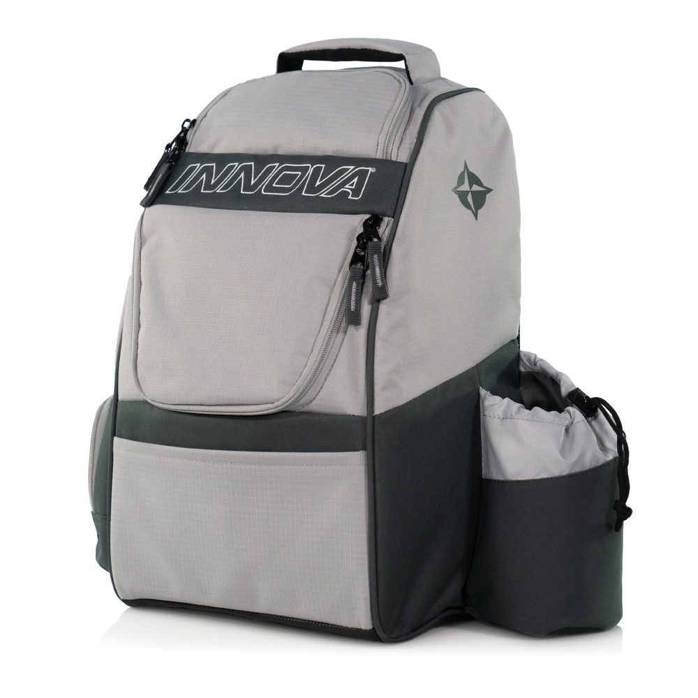 Innova ADVENTURE BAG. Shows a light gray and dark gray bag pointing toward the viewer slightly to the left.