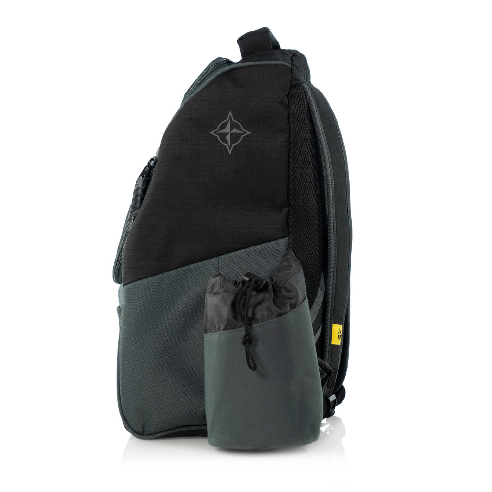 Innova ADVENTURE BAG. Shows a black and gray bag pointing to the viewer's left.