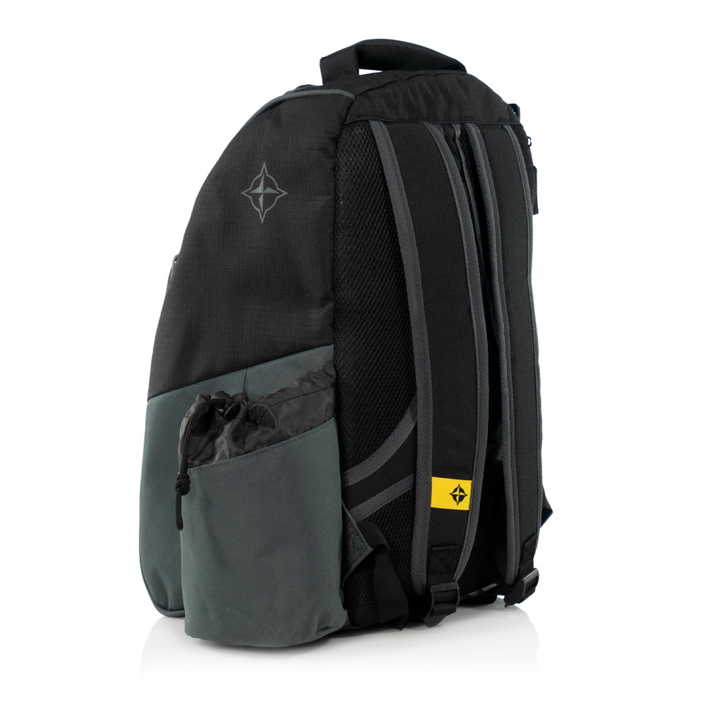Innova ADVENTURE BAG. Shows a black and gray bag pointing to the viewer's left and away.