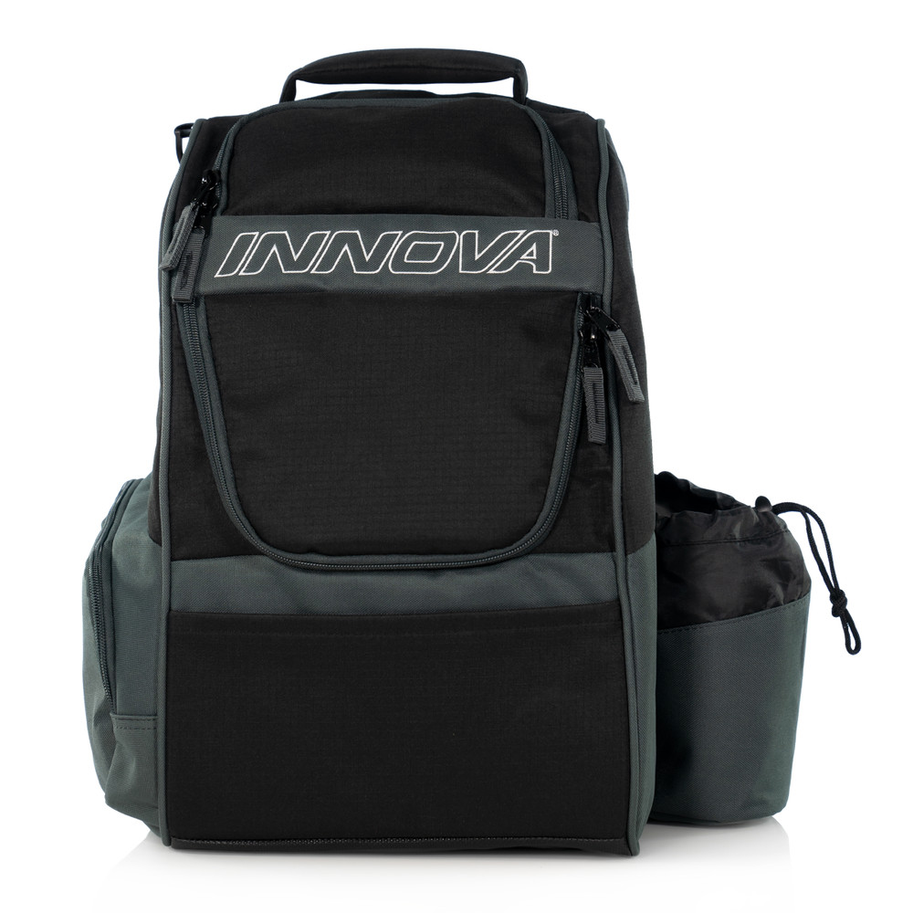 Innova ADVENTURE BAG. Shows a black and gray bag pointing toward the viewer.
