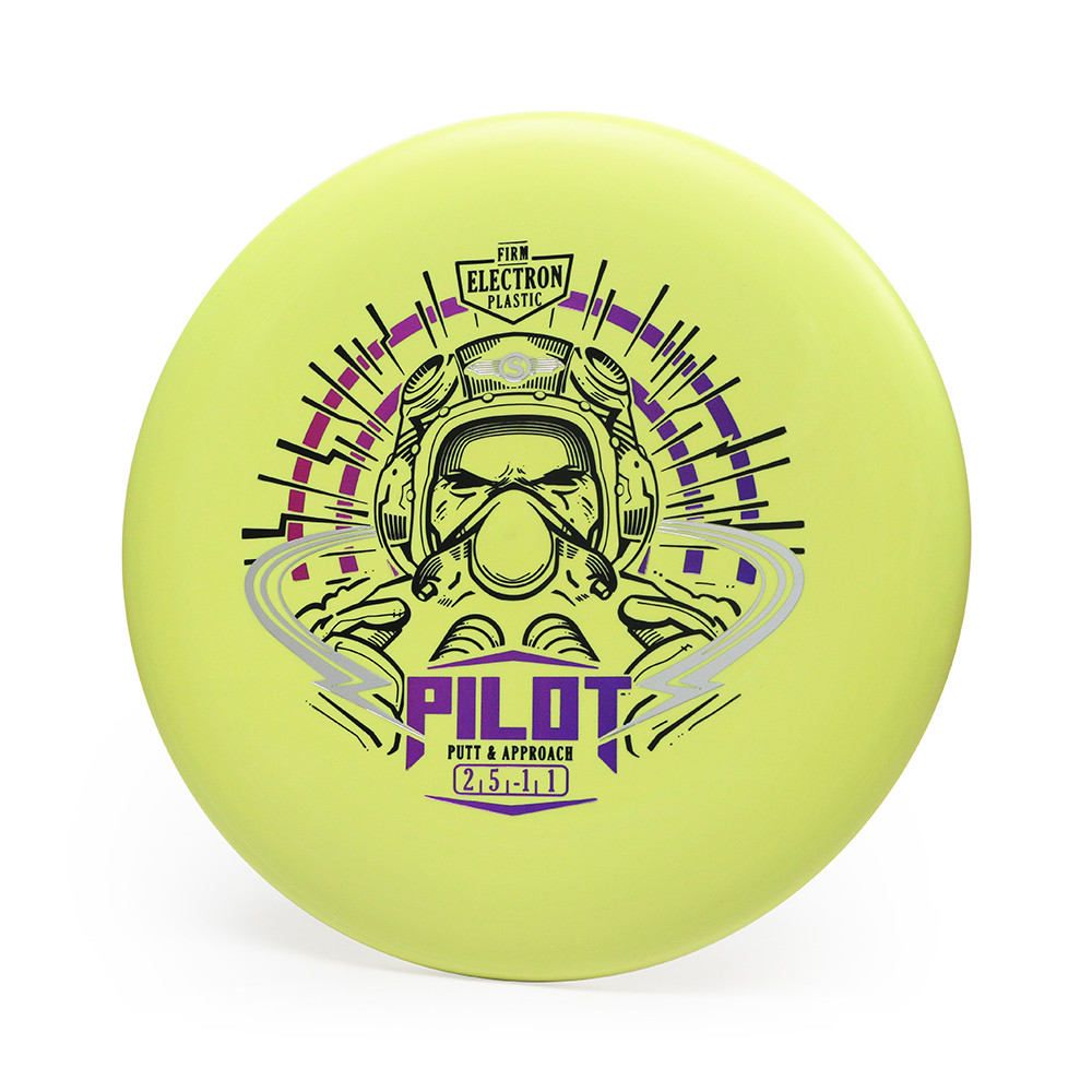 Streamline Electron Firm Pilot. Shows top view of yellow disc against a white background.